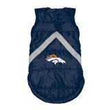 Denver Broncos Dog Pet Premium Puffer Vest Reflective Jacket