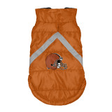 Cleveland Browns Dog Pet Premium Puffer Vest Reflective Jacket