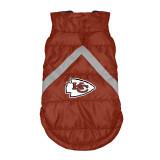 Kansas City Chiefs Dog Pet Premium Puffer Vest Reflective Jacket
