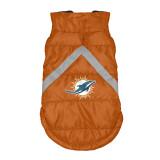 Miami Dolphins Dog Pet Premium Puffer Vest Reflective Jacket