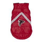 Atlanta Falcons Dog Pet Premium Puffer Vest Reflective Jacket