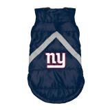 New York Giants Dog Pet Premium Puffer Vest Reflective Jacket