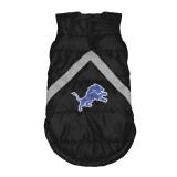 Detroit Lions Dog Pet Premium Puffer Vest Reflective Jacket