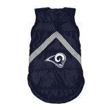 Los Angeles Rams Dog Pet Premium Puffer Vest Reflective Jacket