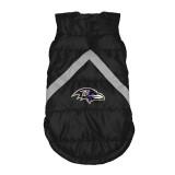 Baltimore Ravens Dog Pet Premium Puffer Vest Reflective Jacket