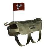 Atlanta Falcons Dog Pet Premium Tactical Vest Harness w/ Flag