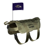Baltimore Ravens Dog Pet Premium Tactical Vest Harness w/ Flag