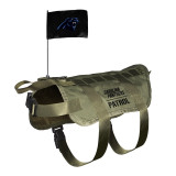 Carolina Panthers Dog Pet Premium Tactical Vest Harness w/ Flag