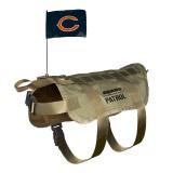 Chicago Bears Dog Pet Premium Tactical Vest Harness w/ Flag
