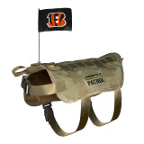 Cincinnati Bengals Dog Pet Premium Tactical Vest Harness w/ Flag