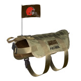 Cleveland Browns Dog Pet Premium Tactical Vest Harness w/ Flag
