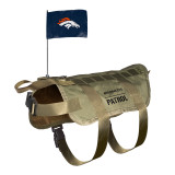 Denver Broncos Dog Pet Premium Tactical Vest Harness w/ Flag