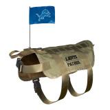 Detroit Lions Dog Pet Premium Tactical Vest Harness w/ Flag