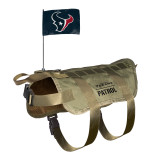 Houston Texans Dog Pet Premium Tactical Vest Harness w/ Flag