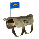San Diego Chargers Dog Pet Premium Tactical Vest Harness w/ Flag