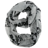 Oakland Raiders Sheer Infinity Fashion Scarf Alternate