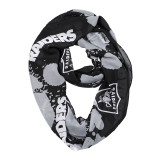Oakland Raiders Paint Spatter Infinity Scarf