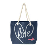Washington Capitals Love Heart Rope Tote Bag