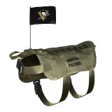Pittsburgh Penguins Dog Pet Premium Tactical Vest Harness w/ Flag