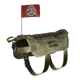 Ohio State Buckeyes Dog Pet Premium Tactical Vest Harness w/ Flag