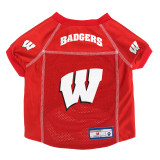 Wisconsin Badgers Dog Pet Premium Alternate Mesh Football Jersey LE