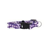 Kansas State Wildcats Dog Pet Adjustable Nylon Logo Collar