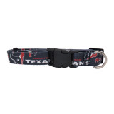 Houston Texans Dog Pet Adjustable Nylon Logo Collar