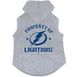 Tampa Bay Lightning Dog Pet Premium Button Up Property Of Hoodie Sweatshirt