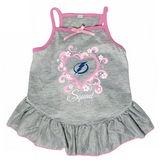 Tampa Bay Lightning Dog Pet Pink Too Cute Squad Jersey Tee Dress