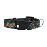 Minnesota Wild Dog Pet Adjustable Nylon Logo Collar