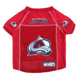 Colorado Avalanche Dog Pet Premium Mesh Hockey Jersey LE