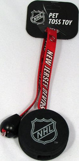 New Jersey Devils Dog Hockey Puck Toy Toss Tug