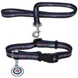 Winnipeg Jets Dog 3pc Pet Set Leash Collar ID Tag