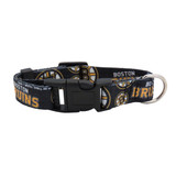 Boston Bruins Dog Pet Adjustable Nylon Logo Collar