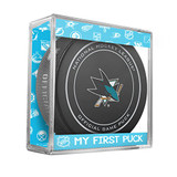 San Jose Sharks My First Official Puck In Case Baby Boy Blue