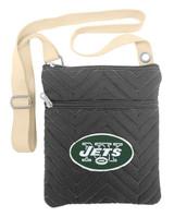 New York Jets Chevron Stitch Cross Body Purse Bag