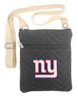 New York Giants Chevron Stitch Cross Body Purse Bag