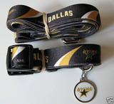 Dallas Stars Dog 3pc Pet Set Leash Collar ID Tag