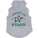 Dallas Stars Dog Pet Premium Button Up Property Of Hoodie Sweatshirt