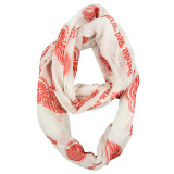 Detroit Red Wings Sheer Infinity Fashion Scarf Alternate