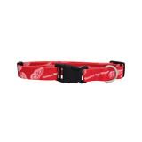 Detroit Red Wings Dog Pet Adjustable Nylon Logo Collar