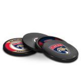 Florida Panthers Real Hockey Puck Coasters Set
