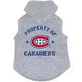 Montreal Canadiens Dog Pet Premium Button Up Property Of Hoodie Sweatshirt