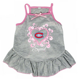 Montreal Canadiens Dog Pet Pink Too Cute Squad Jersey Tee Dress