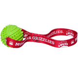 Montana Grizzlies Dog Rubber Ball Tug Toss Toy