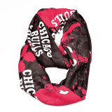 Chicago Bulls Paint Spatter Infinity Scarf