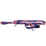 Detroit Pistons Dog 3pc Pet Set Leash Collar ID Tag