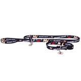 Miami Heat Dog 3pc Pet Set Leash Collar ID Tag
