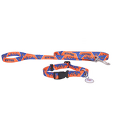 New York Knicks Dog 3pc Pet Set Leash Collar ID Tag