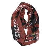 Arizona Cardinals Paint Spatter Infinity Scarf